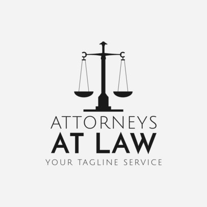 Logo Maker for Attorneys with Scale Icon 1194d
