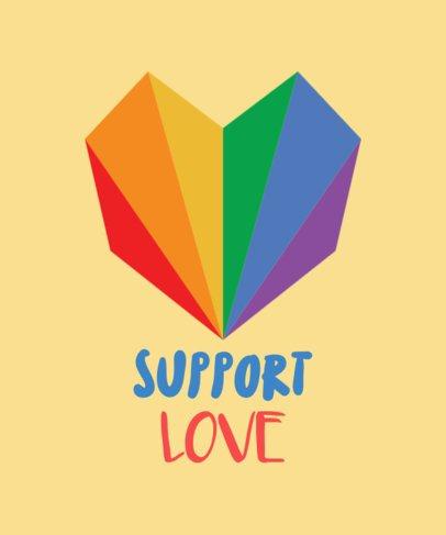 LGBT T-Shirt Design Maker with Rainbow Heart 29a