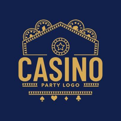 Casino Theme Party Logo Maker for Invitations 1158c