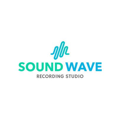 Recording Studio Logo Maker with Soundwave Icon 1184b