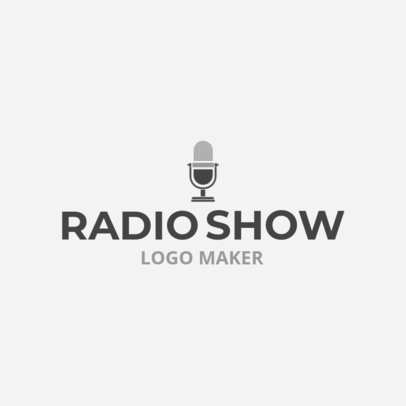 Radio Show Logo Maker with Microphone Icon 1184d