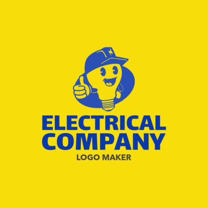 Electrical Company Logo Maker with Electrician Images 1183b