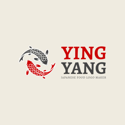 Online Logo Maker with Koi Fish Art 1215c
