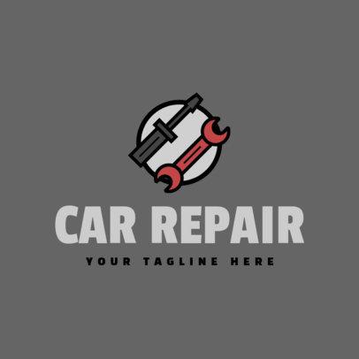 Car Repair Logo Maker with Tool Icons 1186b