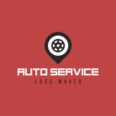 Placeit Auto Service Logo Maker With Wheel Icon