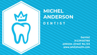 Dentist Business Card with Tooth and Crown Graphics 70a