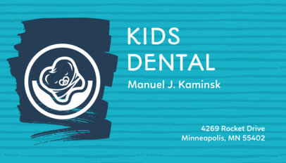 Dental Business Card for a Pediatric Dentist 70d