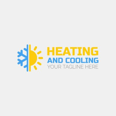 HVAC Logo Maker with Sun and Snowflake Icon 1179b
