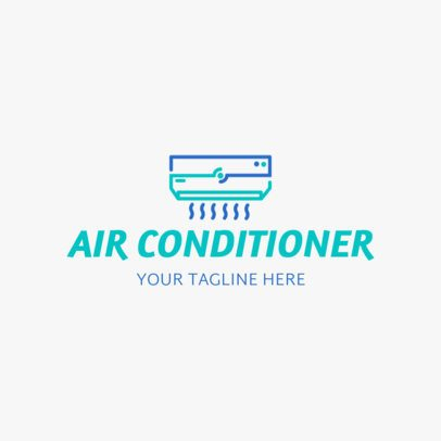 A/C Logo Maker with Air Conditioning Icon 1179d