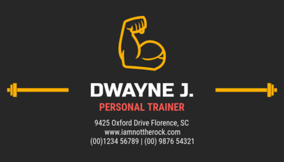 Personal Training Business Card Maker
