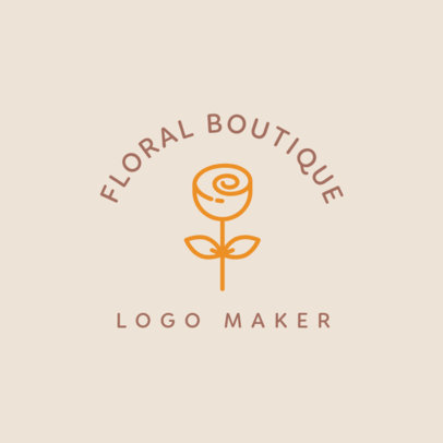 Flower Delivery Shop Logo Maker with Minimalist Flowers 1243b