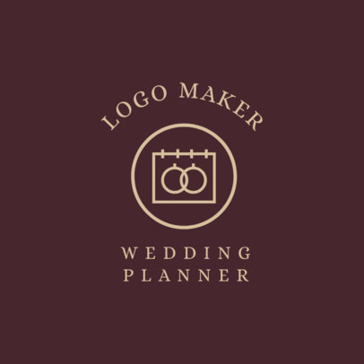 Wedding Planner Logo Maker with Wedding Icons 1243f