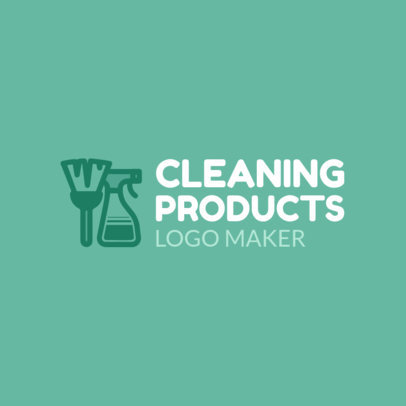 Cleaning Products Logo Maker for Cleaning Business 1204d