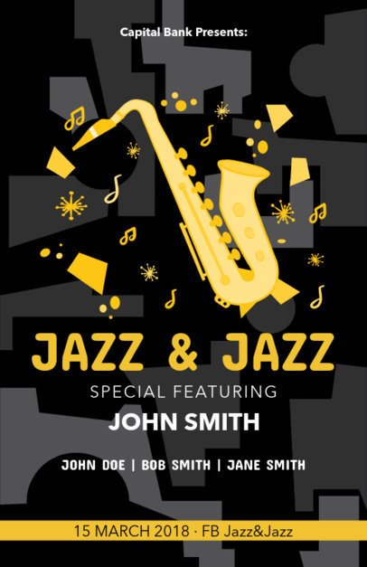 Online Flyer Maker for a Jazz Concert 83c