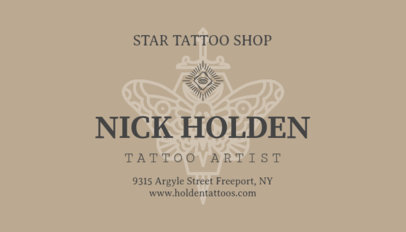 Elegant Business Card for Tattoo Shops 95a