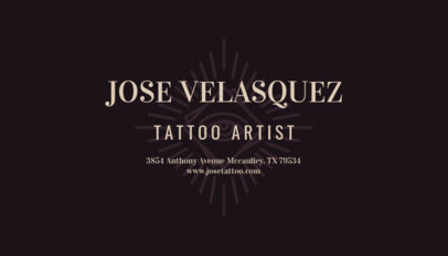 Business Card Maker for Modern Tattoo Shops 95d-1819