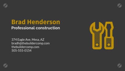 contractor business card maker