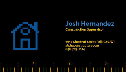 Business Card Maker for Construction Services 99e
