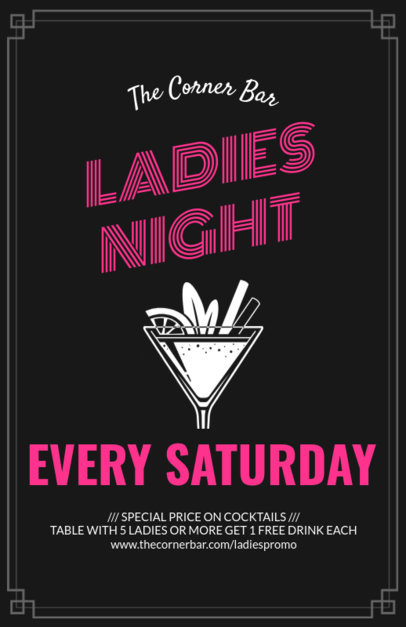 Online Flyer Maker for Ladies Night 94b