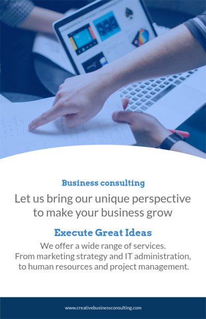 Online Flyer Maker for Business Consultants 100d