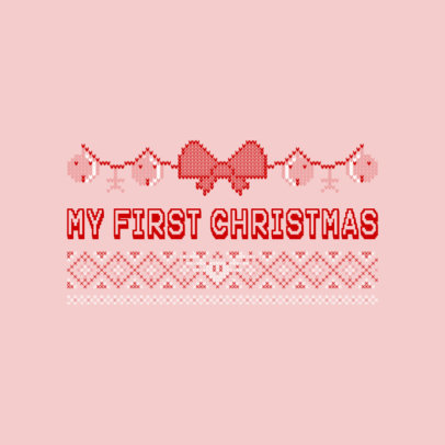 Ugly Pink Christmas Sweater T-Shirt Design Maker 652d