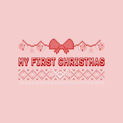 Ugly Pink Christmas Sweater T-Shirt Design Maker 652d