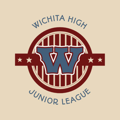 Junior League Logo Maker for Sports Teams 44b