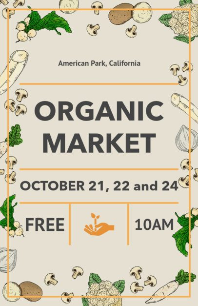 Farmers Market Flyer Maker with Food Illustrations 177a
