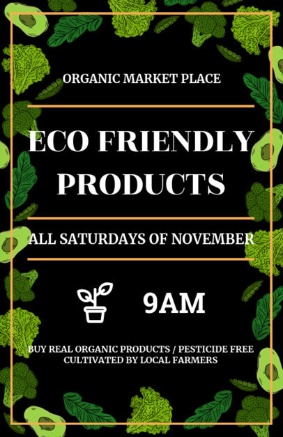 Organic Market Flyer Template Green Theme 177b