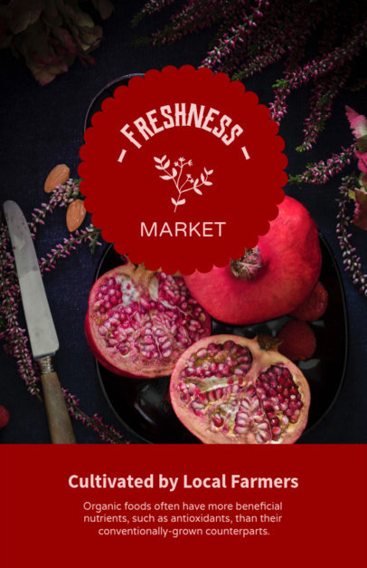 Farmers Market Flyer Maker with Pomegranate Background 194e