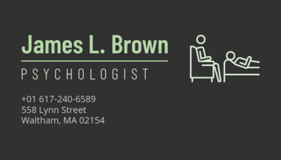 Psychotherapist Business Card Template with Simple Design 189d