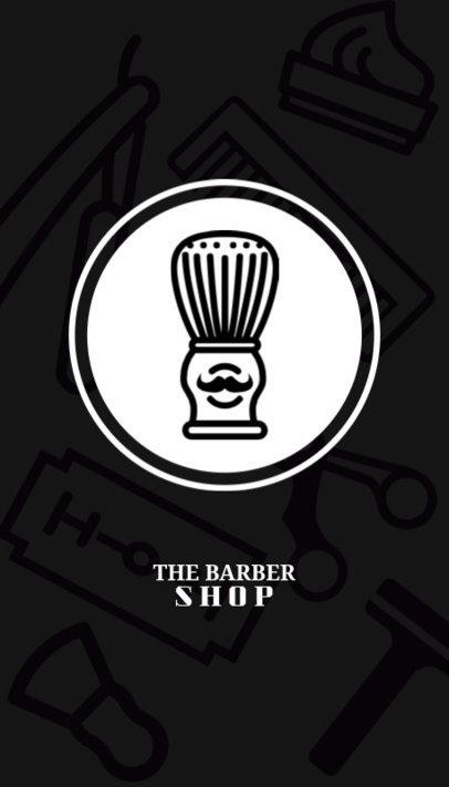 Barber Shop Business Card Maker 110a-1903