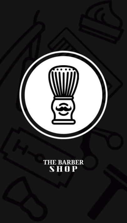 Barber Shop Business Card Maker 110a-1903