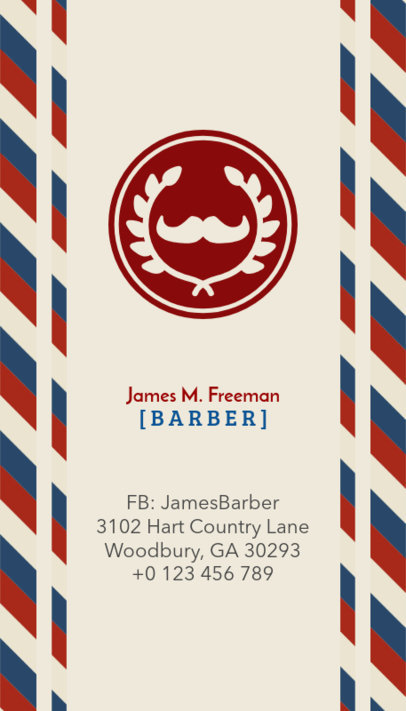 Business Card Maker for Barbers 110b