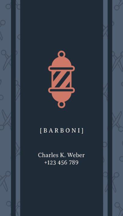 Business Card Maker for Urban Barber Shops 110c-1903