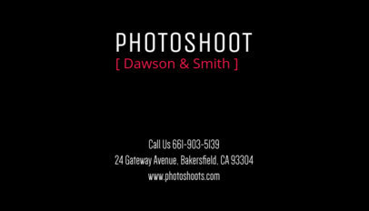 Photographer Business Card Maker 77d