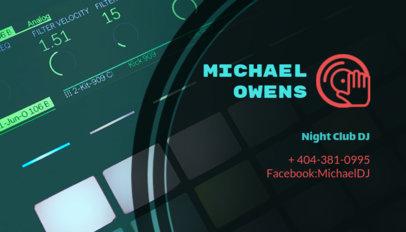 DJ Business Card Template for Nightclub DJ 115b