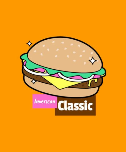 Hamburger T-Shirt Design Maker 6d