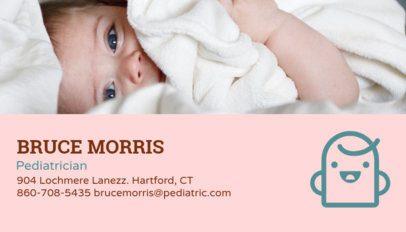 Pediatrician Business Card Maker 135e