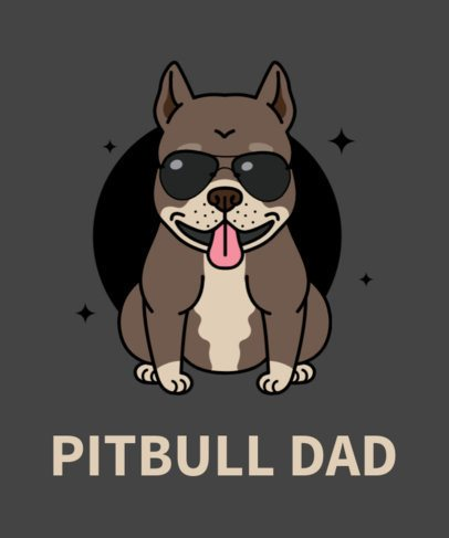 Dog T-Shirt Design Maker with Pitbull Drawing 140e