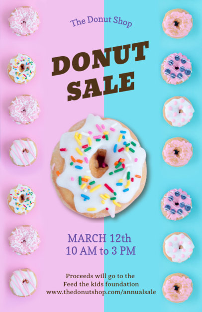 Online Flyer Maker for Donut Shops 127b