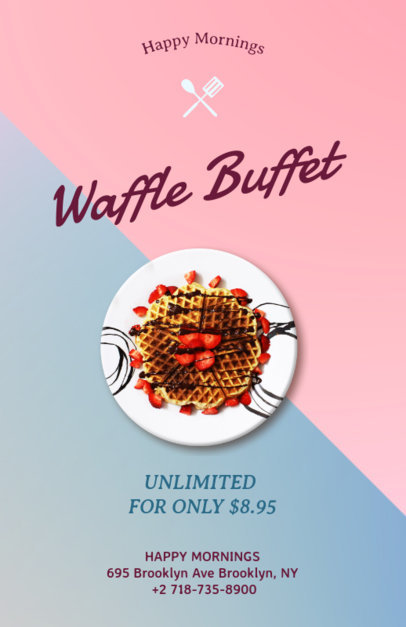Flyer Maker for Waffle Restaurants 127e