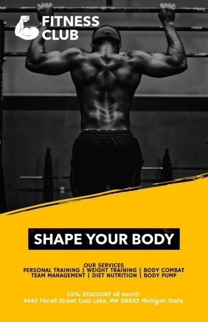 Online Flyer Maker for Gyms a341
