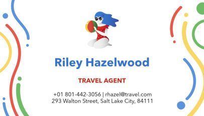 Travel Agent Business Card Maker with Illustrated Characters a300