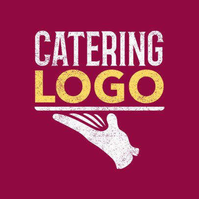 Catering Logo Maker with Serving Tray Icon 1024d