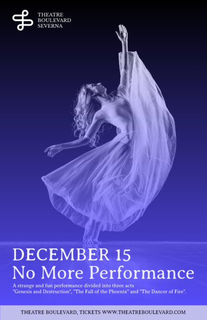 Online Flyer Maker for Dance Show 137b