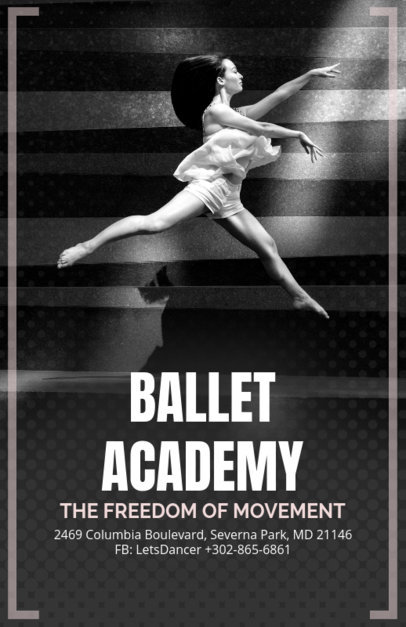 Online Flyer Template for a Ballet Academy 139c