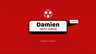 Youtube Channel Art Template for Sports Videos 50a