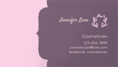 Online Business Card Maker for a Cosmetician 126c-1903