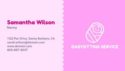 Online Business Card Maker Babysitter a355